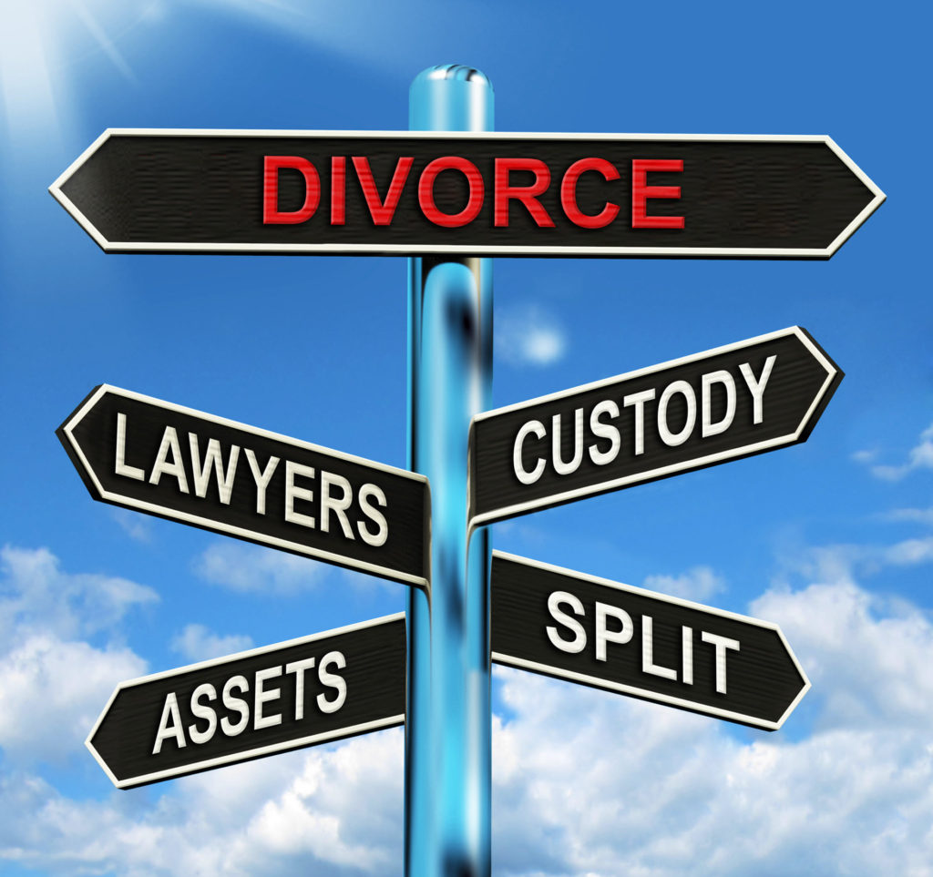 Copy of Divorce Sign post